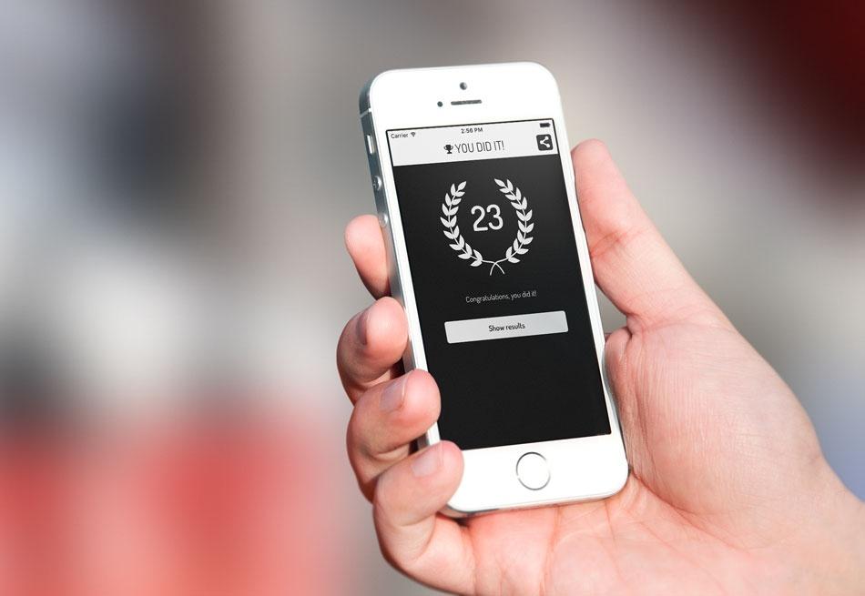 Actionbound-App Sieger-Screen auf einem iPhone